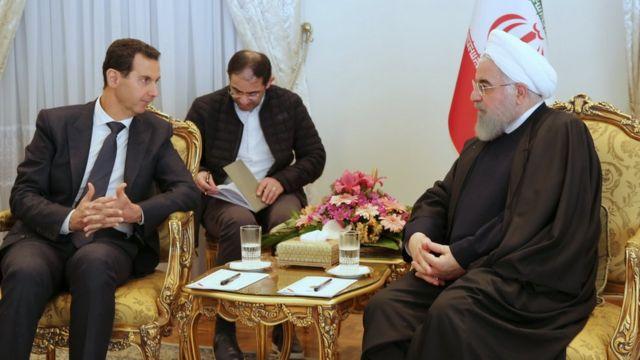 حسن روحانی و بشار اسد