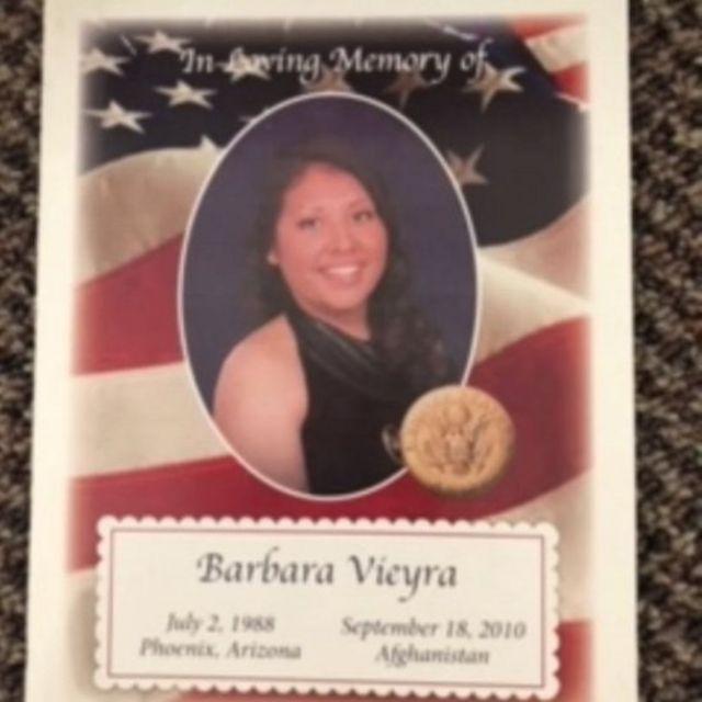 Army Pfc Barbara Vieyra