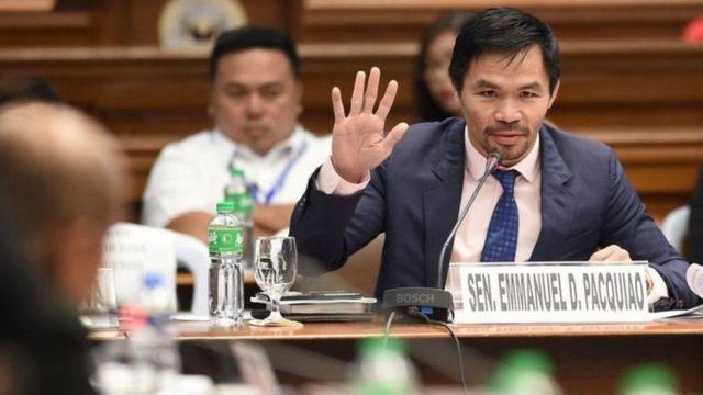 Pacquiao yang berusia 42 tahun kini menjadi senator di parlemen Filipina
