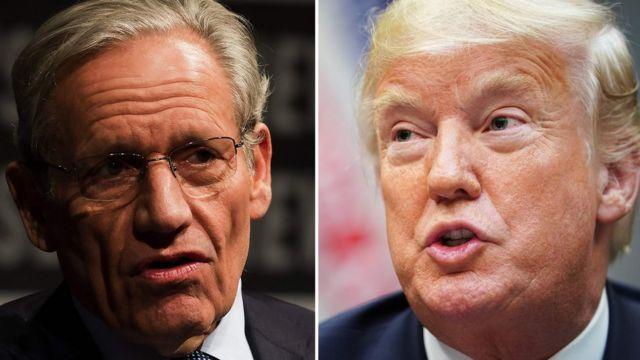 Kitabın yazarı gazeteci Rob Woodward ve ABD Başkanı Donald Trump