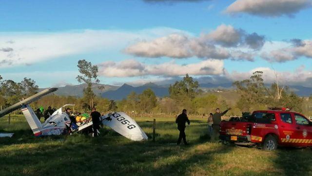 Accidente de avioneta en Ubaté