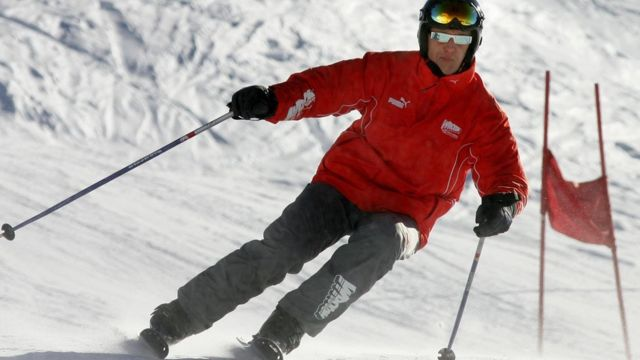 Michael Schumacher esquiando antes de su accidente en 2013