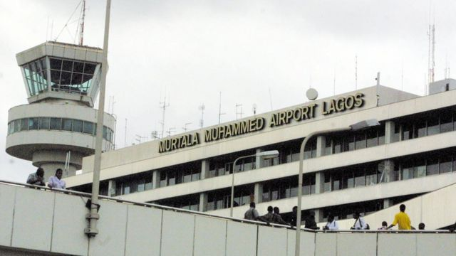 Entrance to Murtala Muhammed Airport Lagos