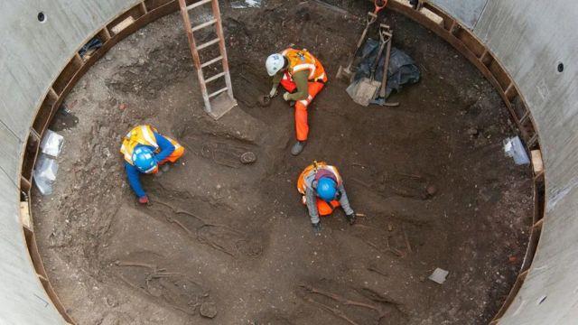 ماہرینِ آثار قدیمہ کو کراس ریل کی سائٹ پہ ملنے والے ڈھانچوں سے 660 سالہ پرانا بیکٹیریا ملا تھا