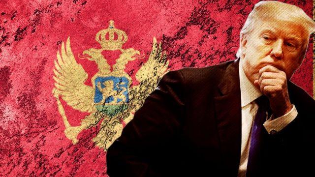 Трамп и застава Црне Горе