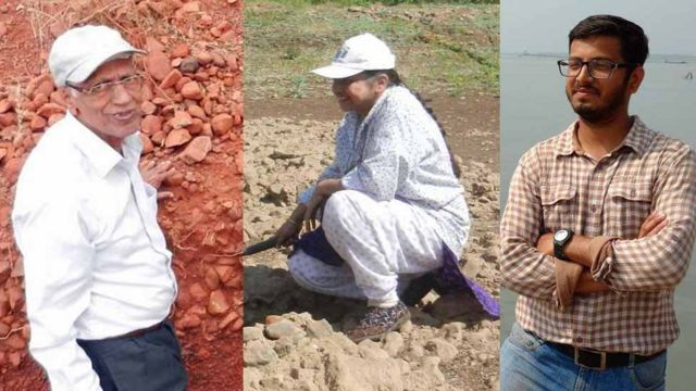 डॉ. एस. एन. राजगुरू, प्रा. सुषमा देव आणि जयेंद्र जोगळेकर