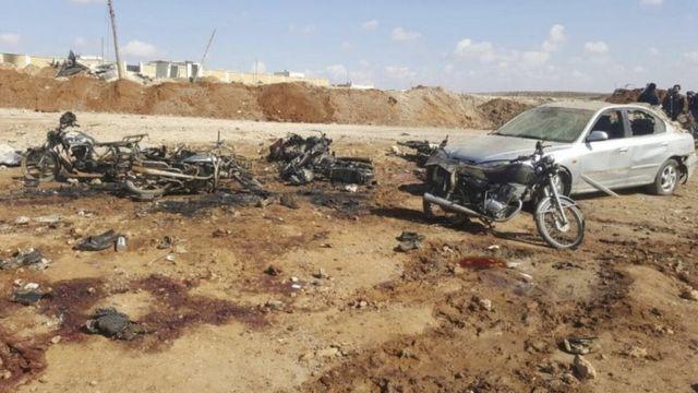 بمبگذاری انتحاری در نزدیکی شهر الباب