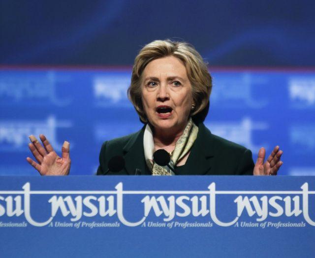 Hillary Clinton avugira i Rochester muri New York, ku ya 08/04