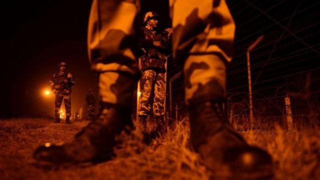 सीमा पर तैनात सुरक्षा बल