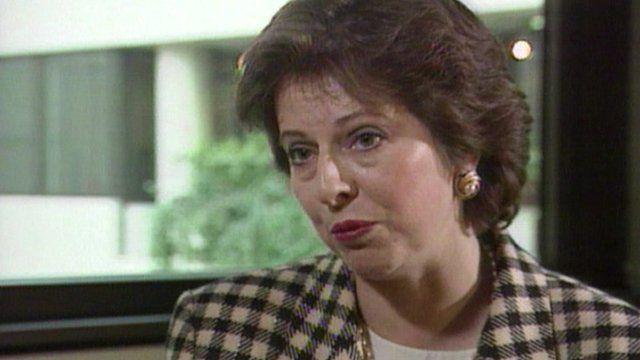 Theresa May in 1995