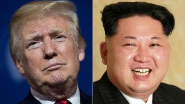 زعيم كوريا الشمالية والرئيس الأمريكي