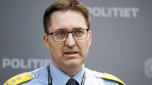 Ole Bredrup Saverud, jefe de la policía regional.