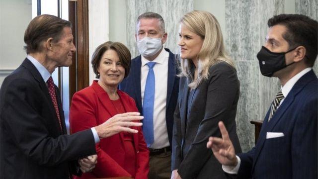 Senadores dialogan con Haugen