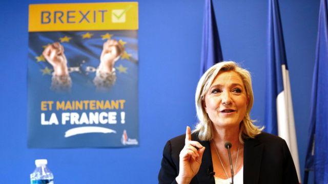 Marine Le Pen, líder a extrema-direita na França