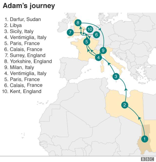 Adam's journey