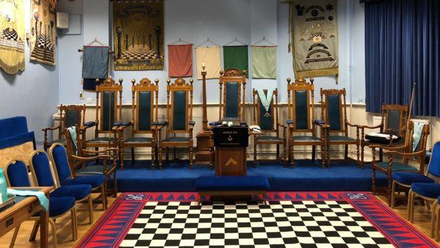Jedna od prostorija u kojoj se okupljaju masoni u Velikoj Britaniji
