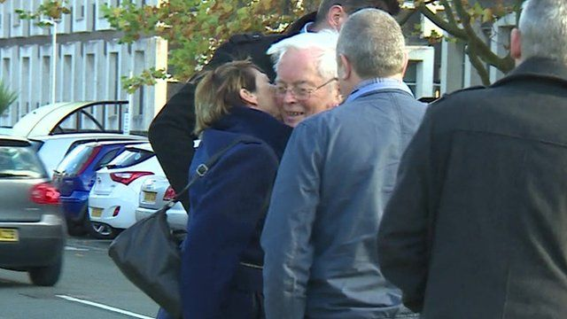 Gordon Anglesea arriving at court