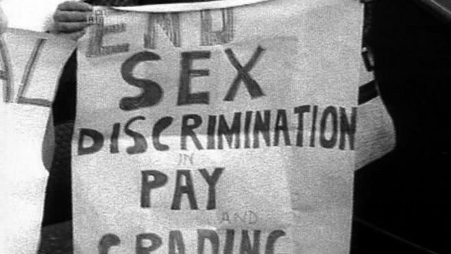 Sex discrimination banner 1968