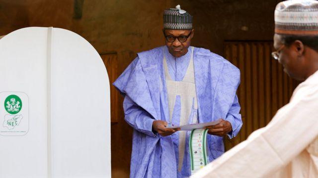 Rais Muhammadu Buhari amepiga kura katika kituo cha Daura, Jimbola Katsina