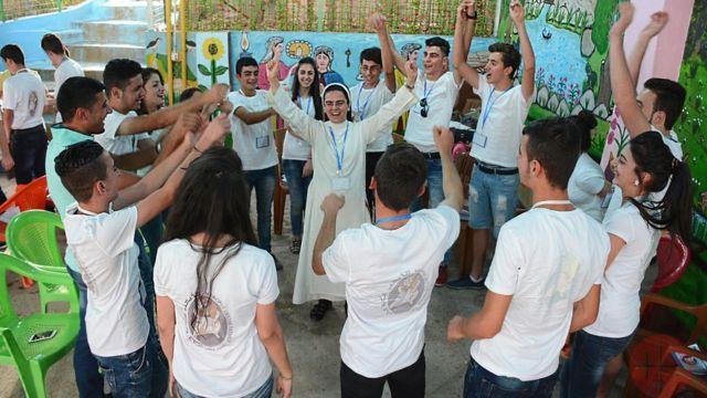 Grupo de jovens da igreja