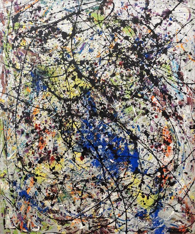 """Obra de Jackson Pollock """"Reflections on the Big Dipper"""""""
