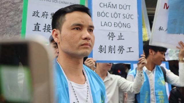 Anh Nguyễn Viết Ca, Phó Hội trưởng Công hội Di công Việt Nam tại Đài Loan, cũng là bên đứng ra tổ chức cuộc biểu tình hôm 5/5