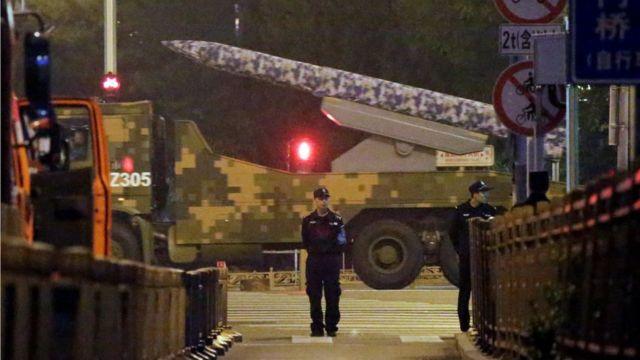 Military vehicle in Beijing
