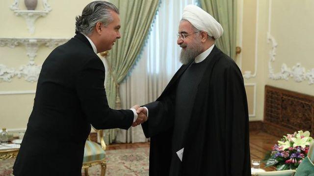 Rodrigo de Azeredo Santos e Hassan Rouhani