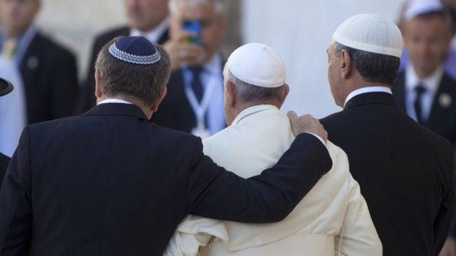 Papa Francisco com lideranças judia e muçulmana da argentina