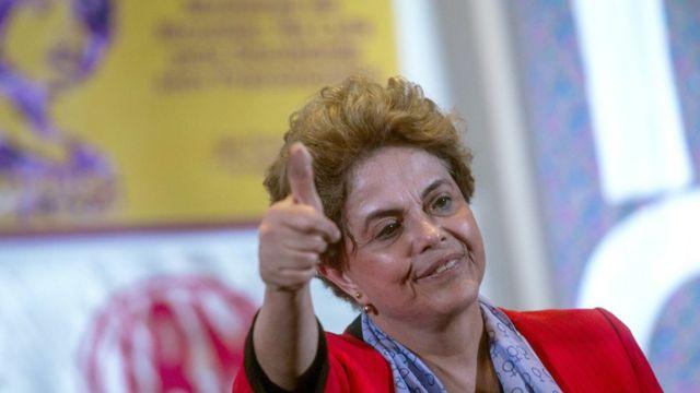 Dilma Rousseff durante evento em São Paulo