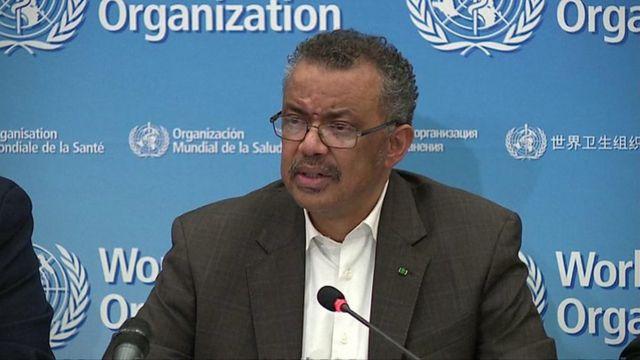 Director General World Health Organization ,Tedros Adhanom Ghebreyesus