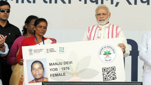 Prime Minister Narendra Modi started this scheme on 23 September 2018 to the beneficiaries by distributing Ayushman Bharat cards in Ranchi, Jharkhand.