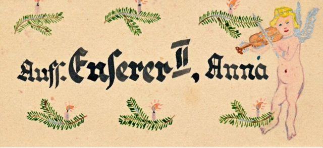 Открытка для надзирательницы Анны Энзерер
