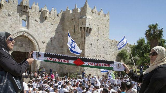 متظاهرات فلسطينيات