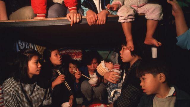 在難民營中的越南船民