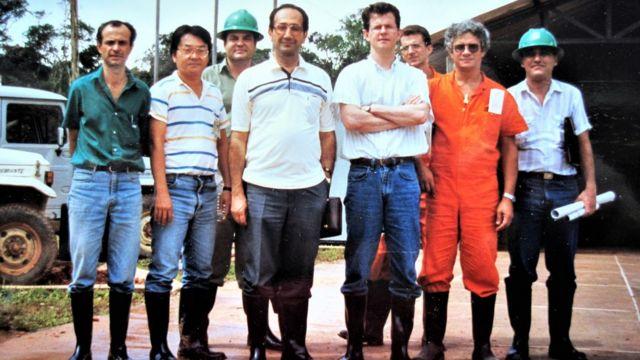 Visita de Farouk Al-Kasim ao Brasil, em 1987