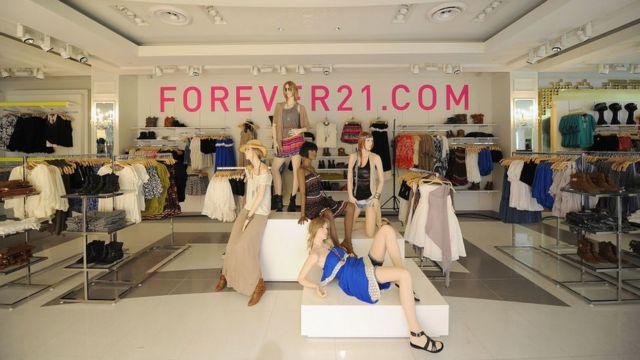 El interior de una tienda Forever 21