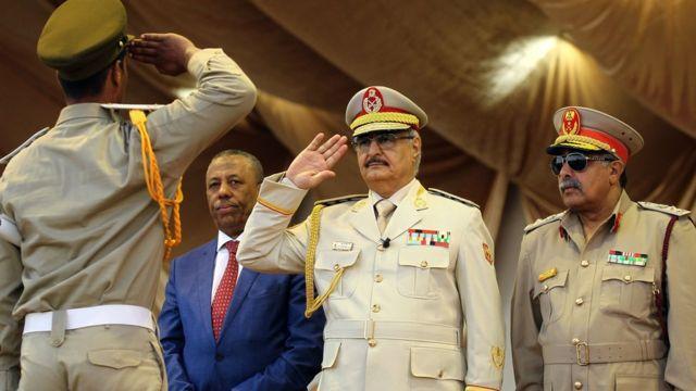 ژنرال حفتر بعد از سقوط قذافی به کشورش بازگشت