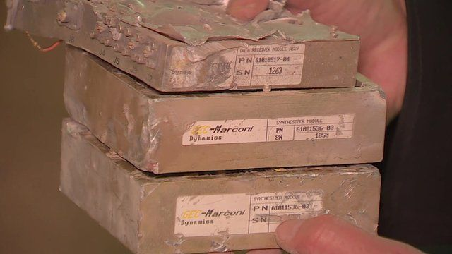 Parts of bomb made by GEC-Marconi Dynamics allegedly dropped on ceramics factory in Yemen in September 2015 by Saudi-led coalition