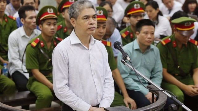 """Ông Nguyễn Xuân Sơn, nguyên Chủ tịch HĐTV Tập đoàn dầu khí quốc gia, nguyên Tổng giám đốc OceanBank bị cho là """"không thành khẩn""""."""