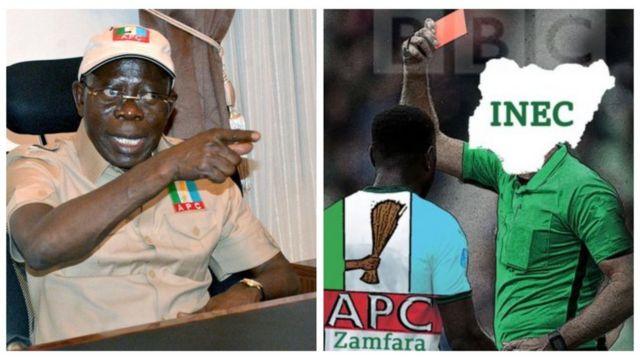 Adams Oshiomole gbéná wojú INEC