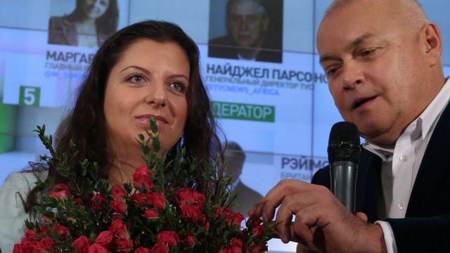Маргарита Симоньян и Дмитрий Киселев