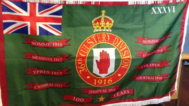 The Loyalist Community Council's new flag to mark the Battle of the Somme