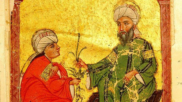 Ilustração de 'Materia Medica' de Dioscórides, do artista Yusuf al Mawsili