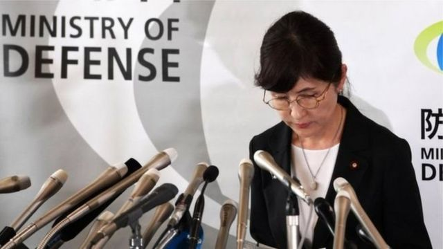 وزيرة الدفاع اليابانية المستقيلة