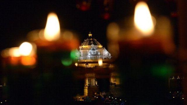 ગાંધીનગરસ્થિત અક્ષરધામ મંદિરનું એક દૃશ્ય