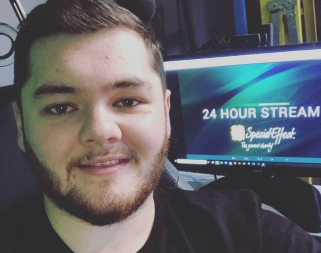 Gamer Jason Wyllie takes a selfie ahead of a 24-hour streaming session