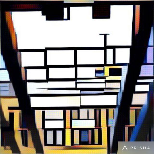 La misma foto con filtro Mosaico