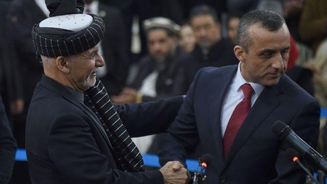 اشرف غنی، افغانستان، امراللہ صالح