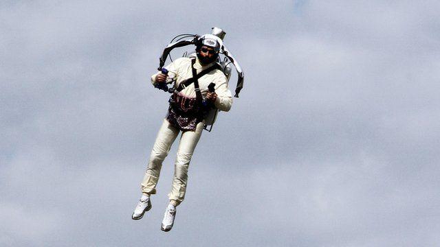 man using jetpack